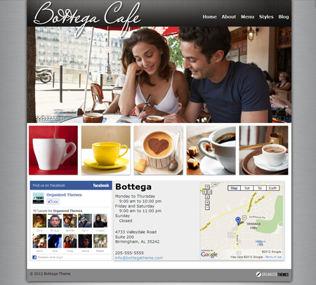 Bottega WordPress Coffee Shop Theme