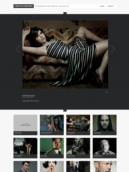 CreativeGrid Pro WordPress Portfolio Theme