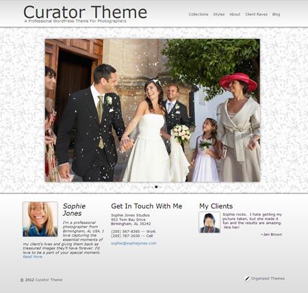 Curator WordPress Wedding Theme