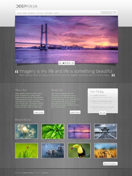 DeepFocus WordPress Portfolio Theme
