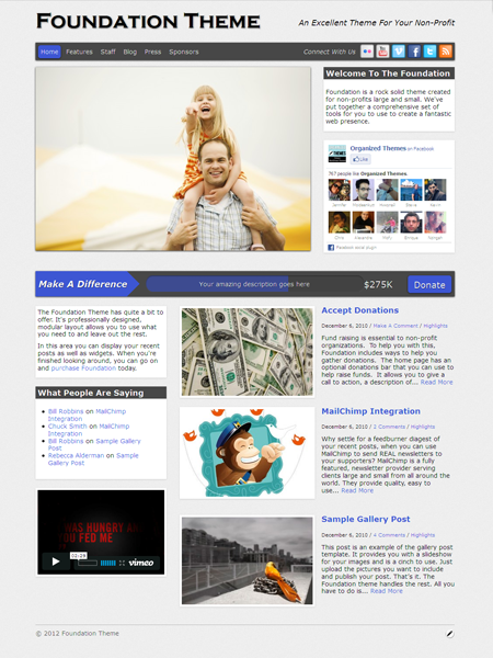 Foundation WordPress Donation Theme