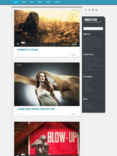 Immersion WordPress Responsive Theme