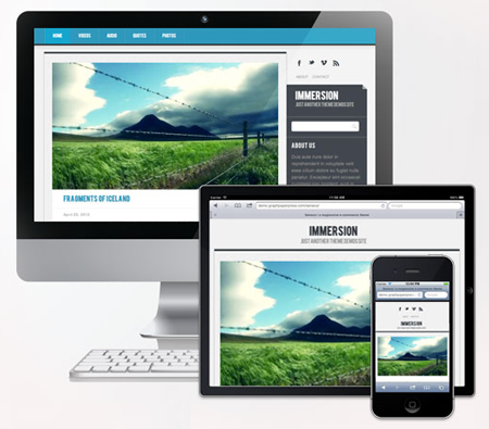 Immersion WordPress Theme for iPhone
