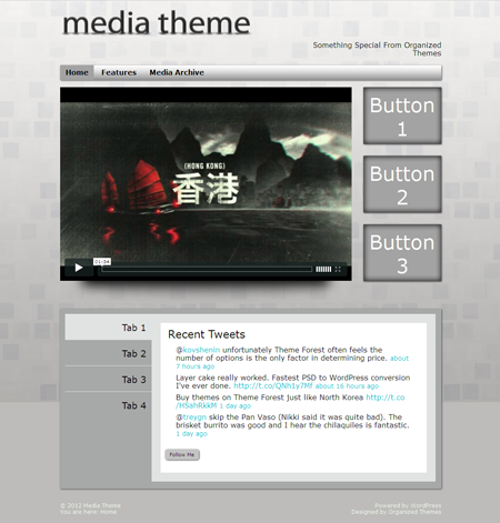 Media WordPress Theme for Simple Multimedia Theme