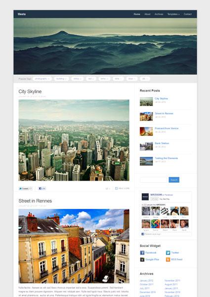 Meeta Free Responsive WordPress Theme for Portfolio & Photography