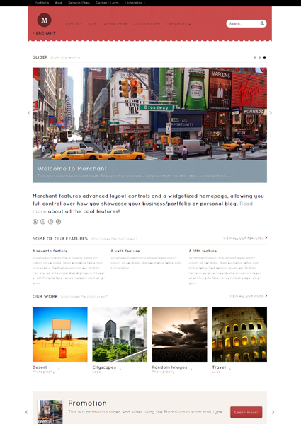 Merchant WordPress Responsive Theme