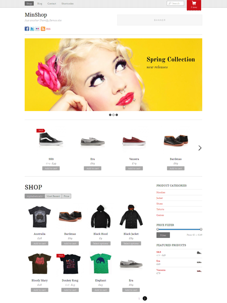 MinShop WordPress eCommerce Theme for WooCommerce Store