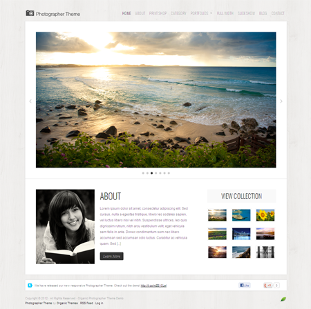 Photographer WordPress Responsive Theme for Sell Photos Online!