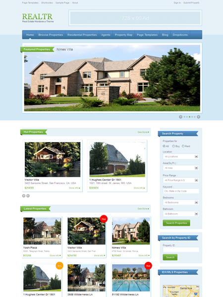 Realtr WordPress Real Estate Theme