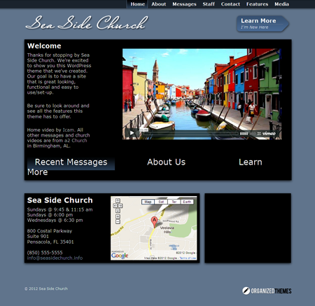 Sea Side Church WordPress Non Profit Theme