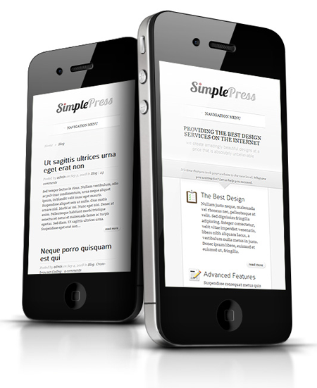SimplePress WordPress Responsive Theme
