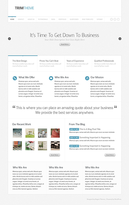 Trim WordPress Business Theme