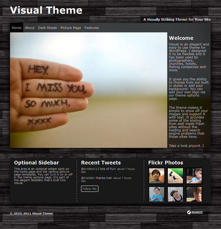 Visual WordPress Theme for Wedding Planners or Photographers