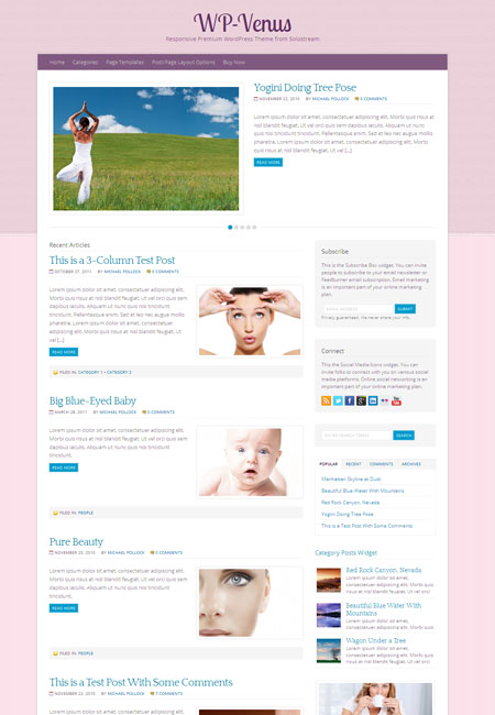 WP Venus Magazine Blog Theme