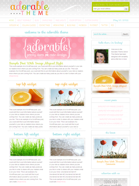 Adorable WordPress Creative Responsive Theme