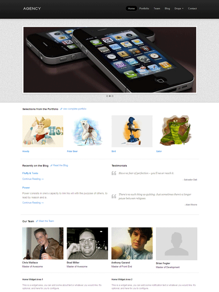 Agency WordPress Responsive Web Design Theme