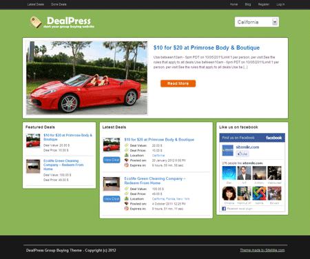 DealPress WordPress Local Deals Theme