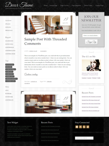 Decor WordPress Responsive Theme