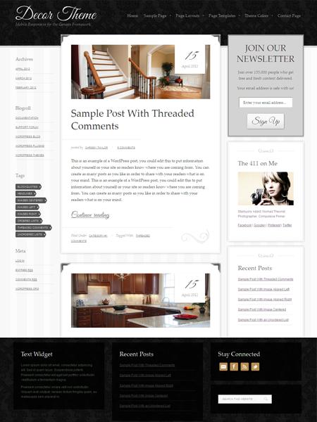 Decor WordPress Responsive Theme