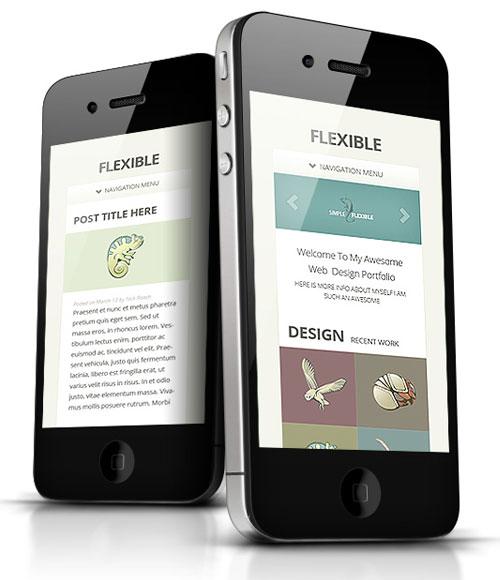 Flexible Responsive WordPress iPhone Theme