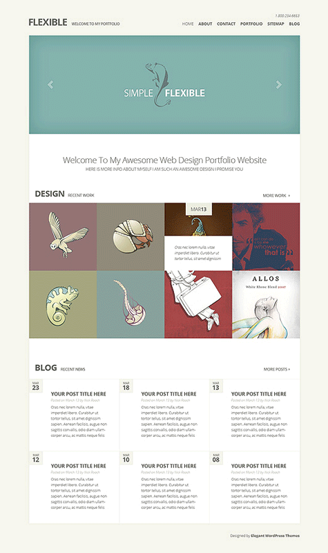 Flexible WordPress Responsive Web Design Theme