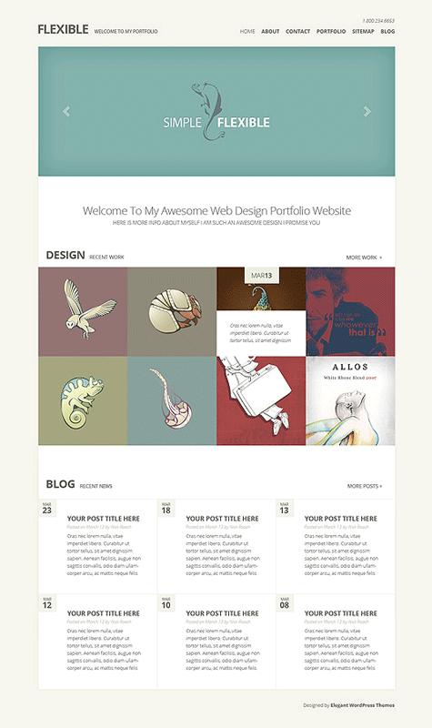Flexible WordPress Responsive Web Design Theme