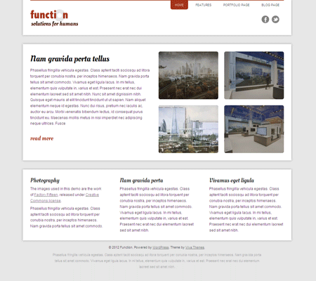 Function WordPress Business Theme