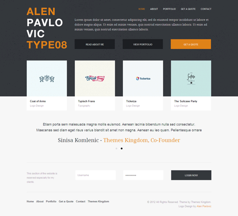 Invo WordPress Freelancers Theme