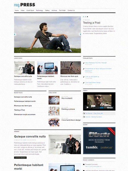 Mag.Press WordPress Mobile Magazine Theme
