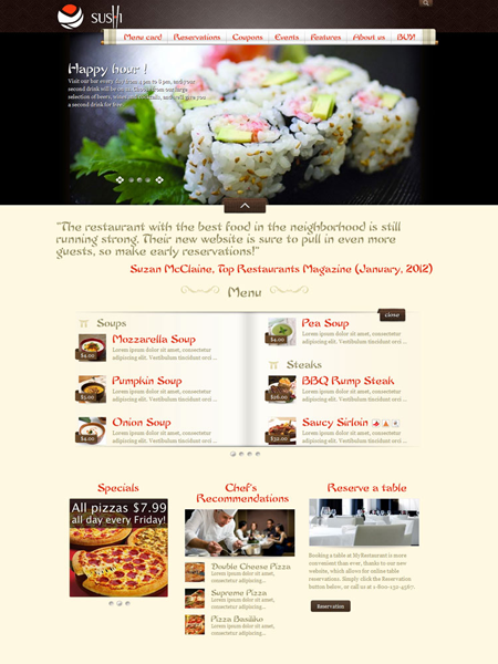 MyRestaurantTheme WordPress Theme