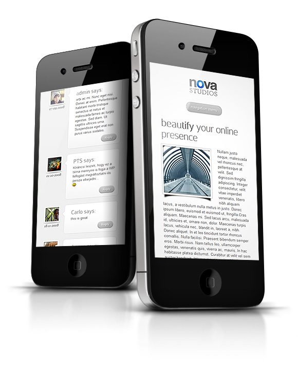 Nova WordPress iPhone Theme