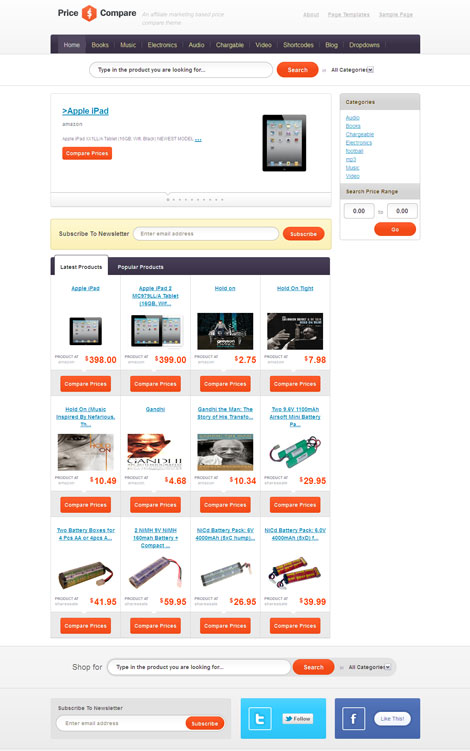 Price Compare WordPress Amazon Affiliate Theme