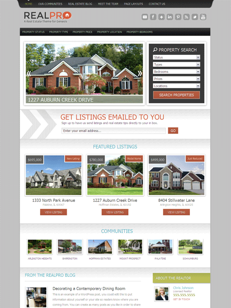 RealPro WordPress Property Listings Theme