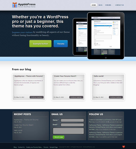 AppBBpress WordPress Forum Theme