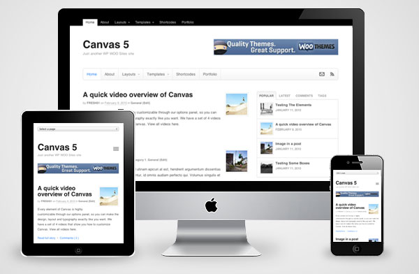 Canvas v5 WordPress Theme for Responsive Magazine, Business Portfolios