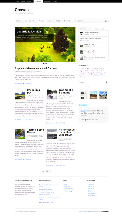 Canvas v5 WordPress Magazine Theme