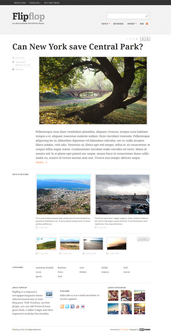 Flipflop WordPress News Publisher Theme