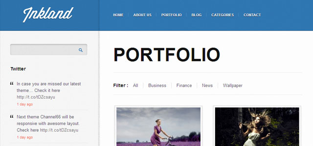 Inkland WordPress Personal Blogging Theme for having daily fun!