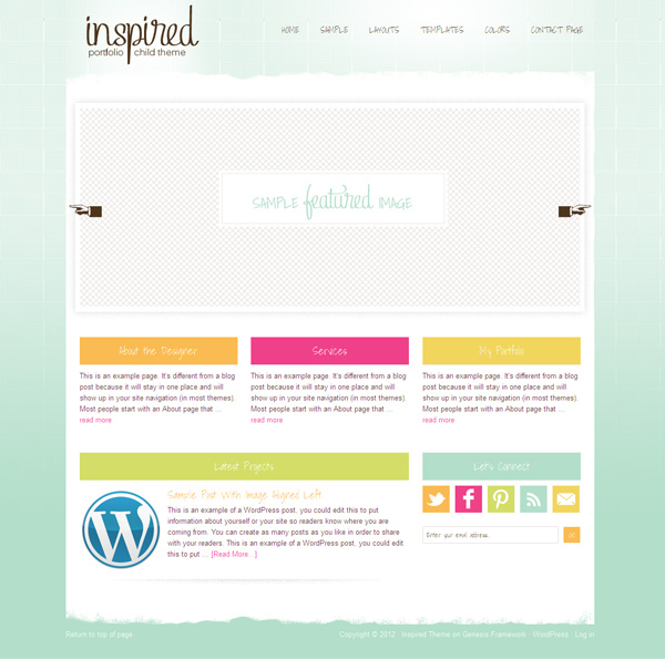 Inspired 1.0 Child WP Feminine Theme