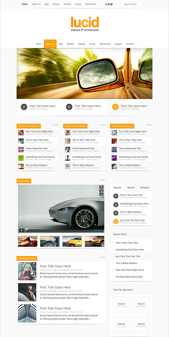 Lucid Responsive WordPress News Theme