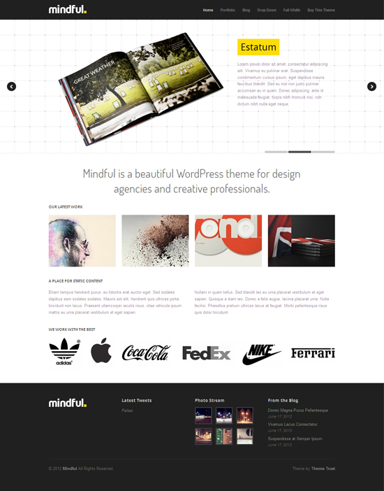 Mindful WordPress Agencies Theme