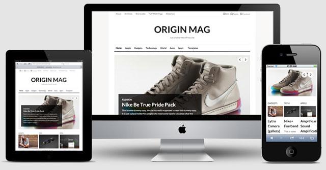 OriginMag Responsive Design Theme