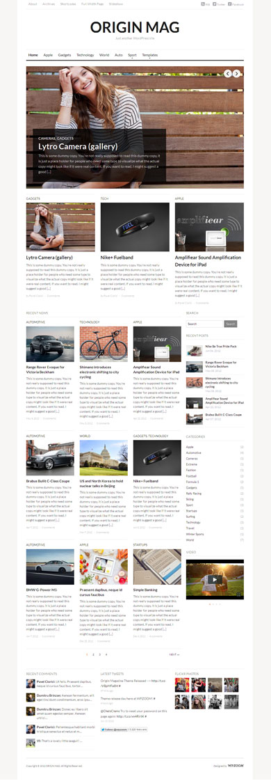 OriginMag WordPress Magazine Theme