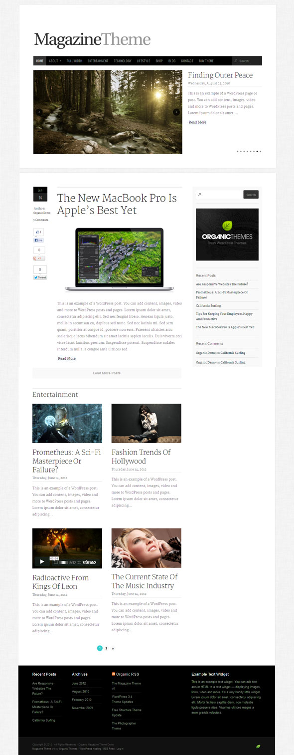 The Magazine Theme V4 for WordPress