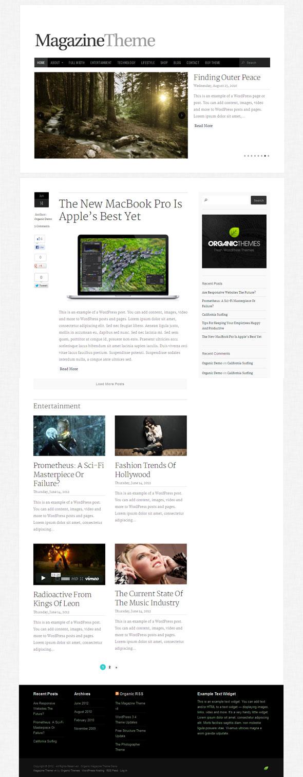 The Magazine Theme V4 for WordPress