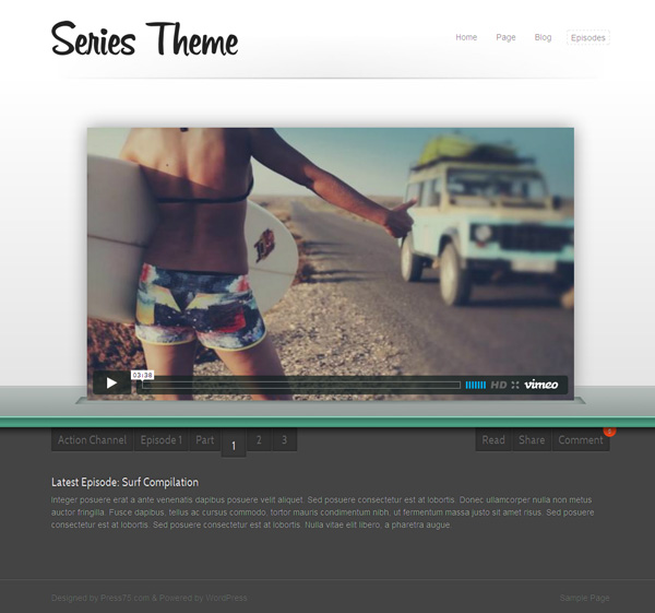 WordPress Series Theme for Video