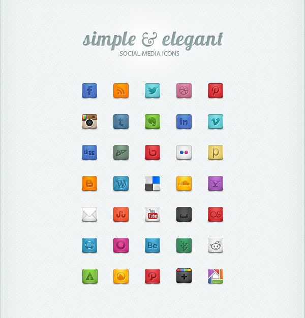 35 Free Social Media Icons