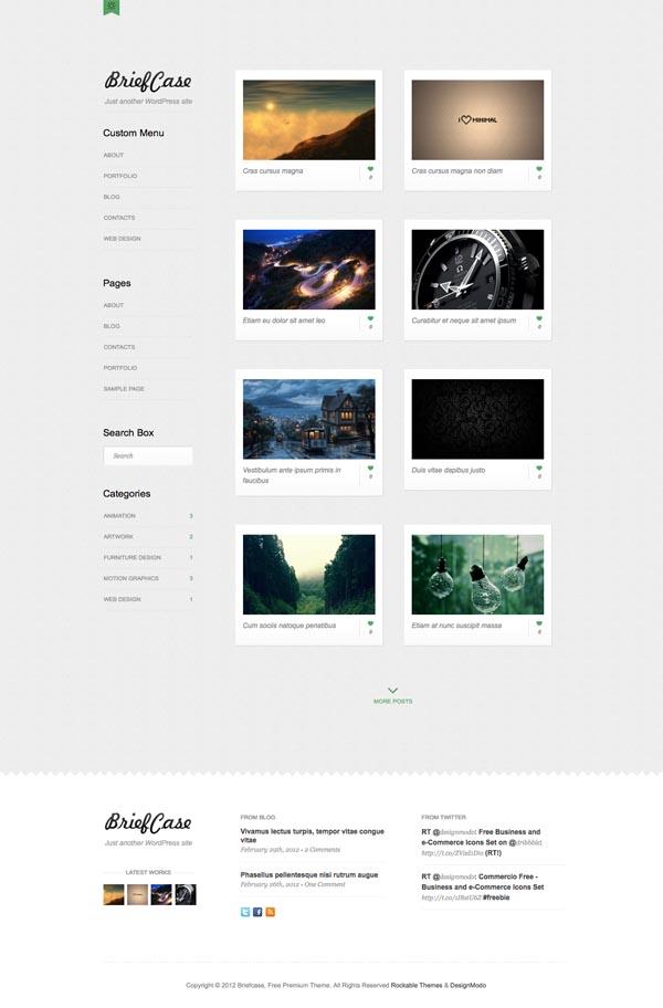 Briefcase Pro WordPress Portfolio Theme