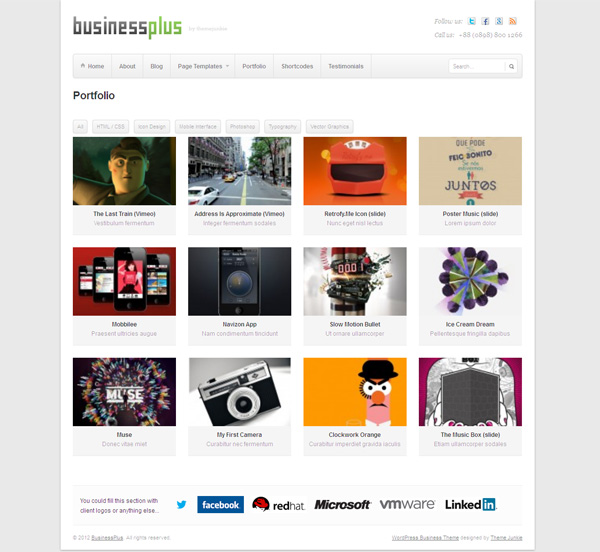 BusinessPlus WP Portfolio Page Theme