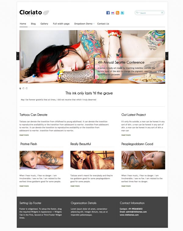 Cloriato WordPress Theme